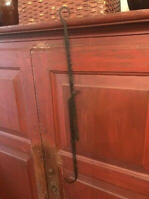 RARE ANTIQUE EARLY 19th century WROUGHT IRON LAMP TRAMMEL Lighting
