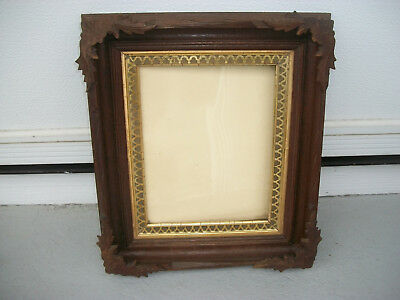 """Beautiful Antique Shadow Box Picture Frame15""""x13""""x2"""" With 7 1/2""""x9 1/2"""" Opening"""