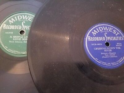 RARE 78 rpm LOT of 2 MIDWEST RECORDED SPECIALTIES