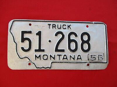 1956 Tab MONTANA Truck License Plate 51 268 (1342)