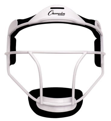 Champion Sports FMAWH Softball Adult Pitchers Fielders Face Mask White