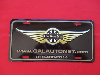 CAL AUTO NET Front License Plate Advertising Inglewood California (1342)