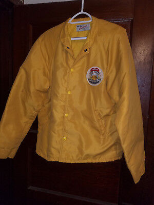 RARE ORIGINAL 1983 Old Fort Brewing Co. yellow Nylon Jacket medium