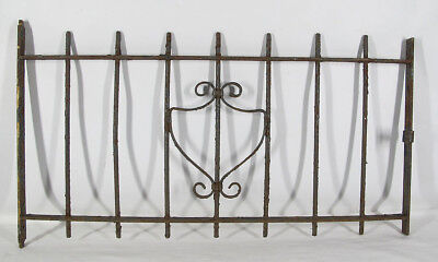 19th C Victorian Wrought Iron Childs Burial Graveside Gothic Fence Gate Door yqz