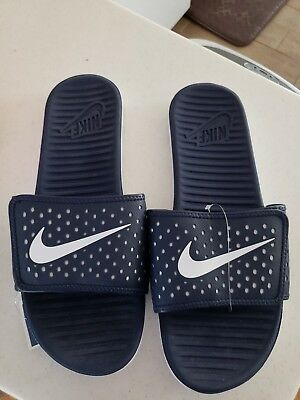 47265c237018c7 MENS NIKE FLEX motion slide in navy and white size 11 new in box ...