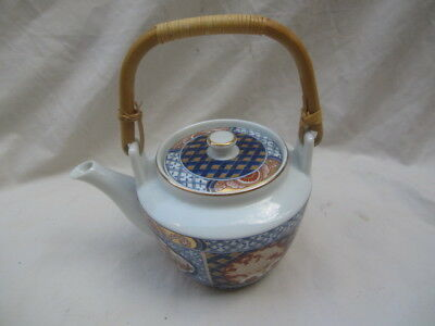 """Japanese Imari Ware Teapot  Approx  4.5"""" Tall, Made In Japan, Excellent Cond."""