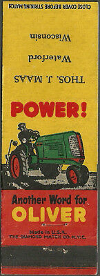 early ~ OLIVER TRACTORS ~ farm IMPLEMENTS dealer WATERFORD, WI wisconsin