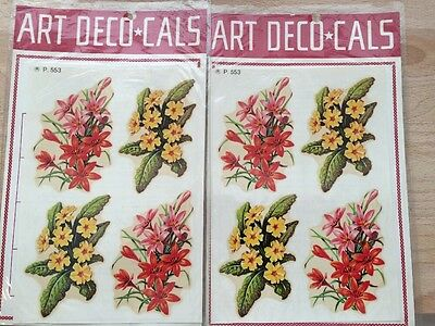 Vintage Floral Decals-Art Deco*Cals by Pizzetti and Figlio-In Original Package