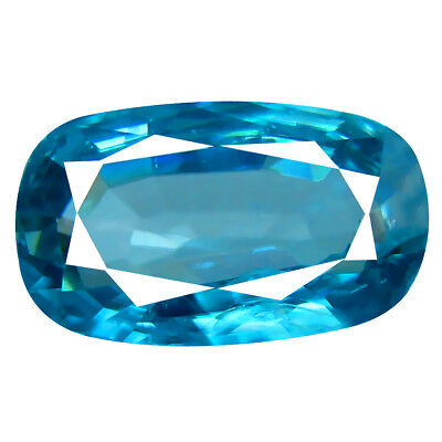 3.54 ct Remarkable Oval Cut (11 x 6 mm) Cambodian Blue Zircon Loose Gemstone