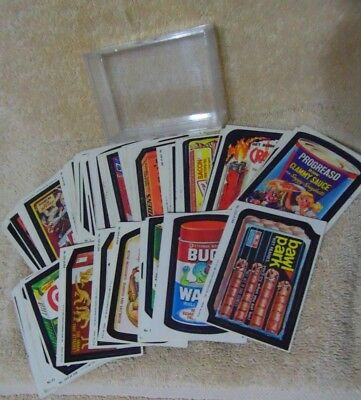 1980's Lot of 62 Topps Chewing Gum Stickers Labels Wacky Packages