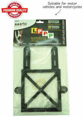 Set of 2 Red Green P Plate and L Plate Holders Black Plastic Frame With Screws