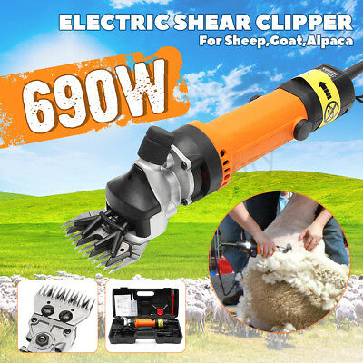 690W Electric Shearing Clippers Shears Sheep Goat Animal Trimmer Farm