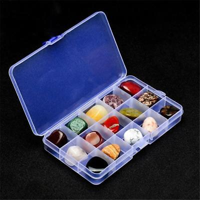 15pcs Rock Collection Mixed Natural Quartz Mineral Ore Specimens Gemstones Box