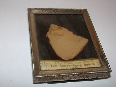 1960s QUEEN MARY CRUISE SHIP-PAINT CHIP.  LONG BEACH CA AUG 1969-156 COATS!