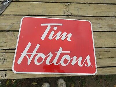 Real Road Sign Tim Hortons