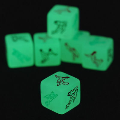 1x Glow in the Dark Lovers Dice Adult Sex Board Bedroom Games Couple Bachelor