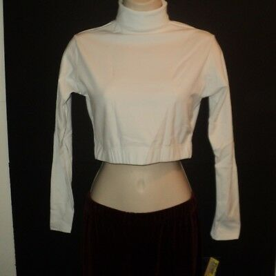 CAPEZIO Turtleneck Long Sleeved Crop Top Child & Adult White, Black or Royal