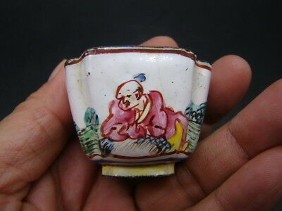 Chinese 19th century nice painted enamel  small cup  s2757