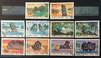 World Stamps Vietnam 1984 Set 10 Stamps Coastal Scenes Ex Used (B4-4a)