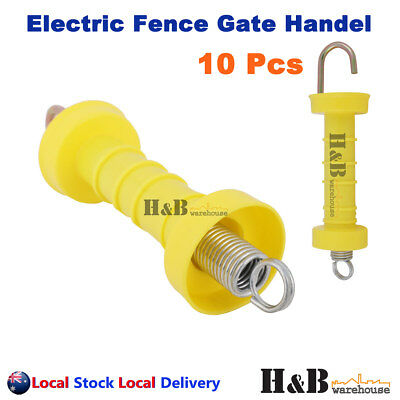 10 Pcs Electric Fence Gate Handle Insulated Spring Handles Yellow