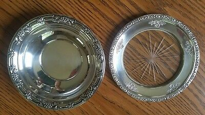 wild rose sterling silver bowl and plate
