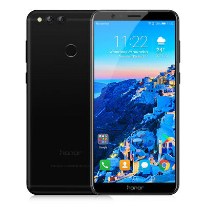 5.93 Inch HUAWEI Honor 7X 4+64GB 4G Smartphone 8Core Android7.0 Noir TéLéPhone