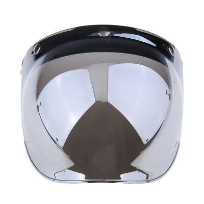 3 Button Flip Up Bubble Visor Shield for Open Face Motorcycle Helmet Color#1