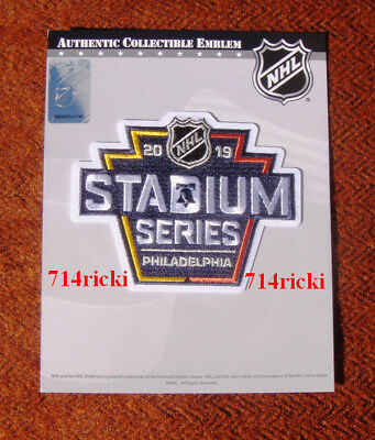 Official NHL 2019 Stadium Series Patch Philadelphia Flyers Pittsburgh  Penguins 923982ea9