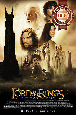 New The Two Towers 2 Lord Of The Rings Original Movie Film Print Premium Poster