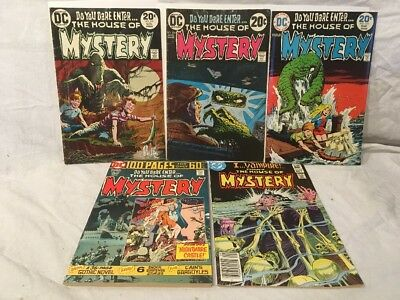 Bronze Age DC Comics House Of Mystery Lot Of 5, Inc. Giant Fine-