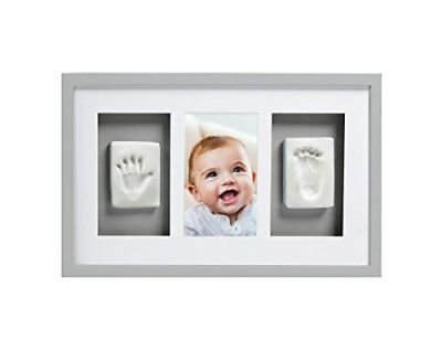 Pearhead Babyprints Handprint and Footprint Deluxe Wall Keepsake Frame with Clay