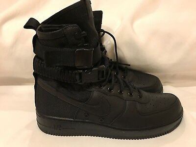 Nike SF AF1 Special Forces Field Air Force One TRIPLE BLACK 864024-003 sz 9-11.5