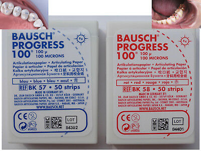 Artikulationspapier.    Bausch    PROGRESS. / 100 microns
