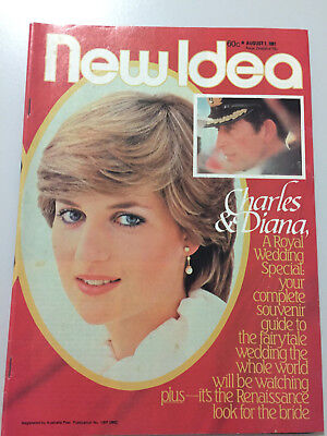 New Idea Aug 1 1981 - Charles & Diana a royal wedding special - great condition