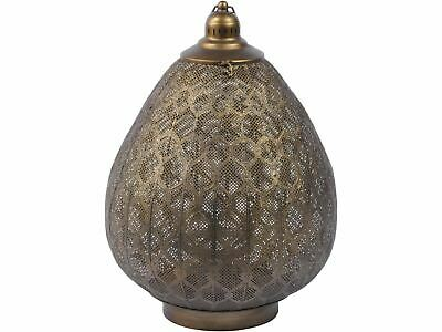 Libra Filigree Large Ovate Lantern Burnished Gold Light Lighting Candle Holder