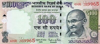 INDIA 100 Rupees 2016 P NEW Letter R - UNC Banknote