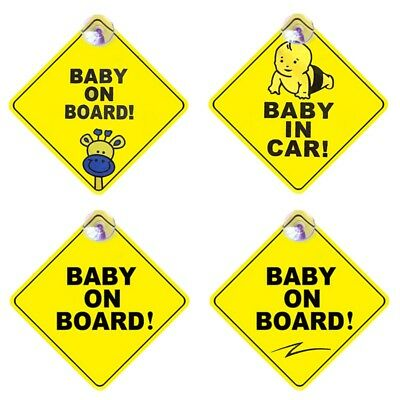 1x Baby On Board Safety Car Sign New Sticker Window Badge Baby In Car Girl Boy