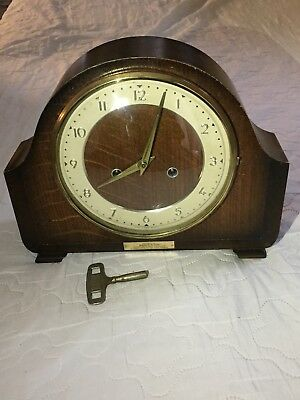 """Vintage Of 1950's """"SMITHS"""" British Movement with Two Jewels, Mantel Clock"""