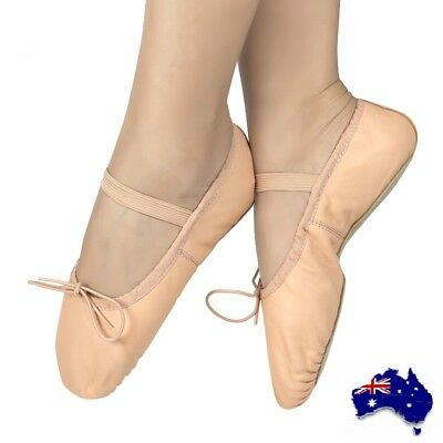 Children Full Leather Full Sole Ballet Shoes