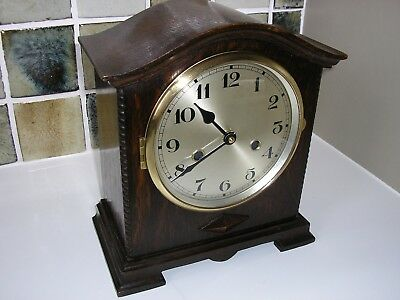 Wooden Cased Mantle Clock (Converted)