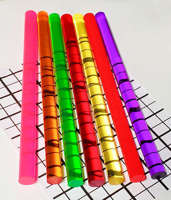"7 Different Clear 3/4"" Inch Diameter Color Acrylic Plexiglass Plastic Lucite Rod"