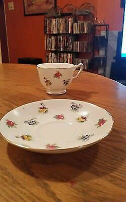 Crown Staffordshire Fine Bone China Tea cup and saucer