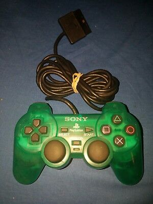 Official Sony PlayStation 2 PS2 Dual Shock Analog Green Controller OEM