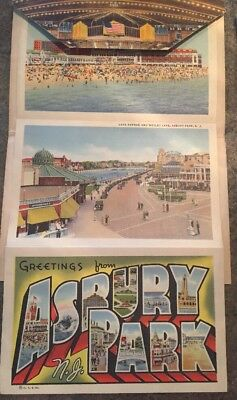 Vintage Postcard Lot Of 18 Travel History Fold Out Long Card