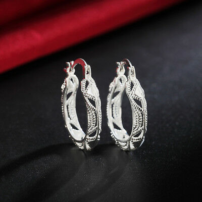 for women fashion 925 silver Earring jewelry wedding Solid cute lady gift charm