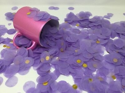 Wedding Confetti, Purple and gold scatter confetti, table confetti various sizes