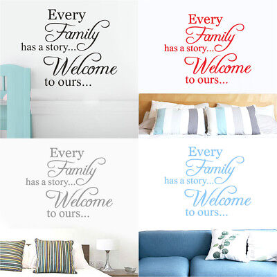 Removable Family Quote Wall Sticker DIY Art Vinyl Decal Mural Home Bedroom Decor