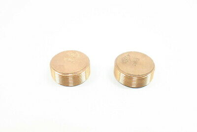 2x New Bronze 1-1/2in Pipe Plug