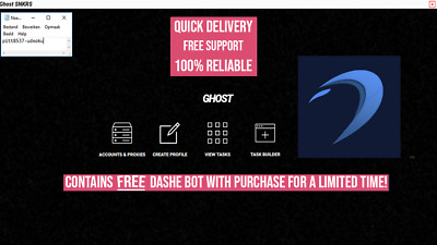 Ghost SNKRS AIO (Nike BOT) Latest version v.1.8.1 + Free Dashe Bot + ANB AIO
