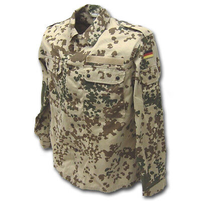 Genuine German Desert Army Budeswehr Military Shirt Tropentarn Camo Surplus
